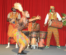 Pan-Africana Cultural Troupe Performs At The African Cultral Night On Saturday. (Photo: Michael Wijaya)