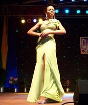 First Runner-up Miss Antigua and Barbuda Derri-Ann Browne also won the Best Evening Wear title.