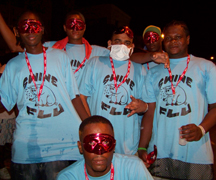Swine flu was a popular theme during j'ouvert 2009