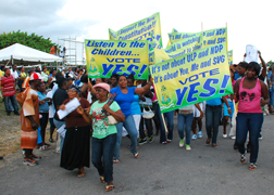 "The government of SVG has allocated EC$4m (US$1.4m) to the ""Vote Yes"" campaign. (Photo: Lance Neverson)"