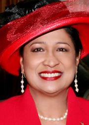 Prime Minister of Trinidad and Tobago, Kamla Persad-Bissessar.