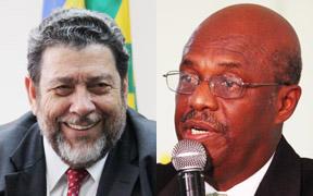 Prime Minister Dr. Ralph Gonsalves and Opposition Leader Arnhim Eustace (File montage).