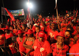 The ULP supportes at an election rally in 2010.