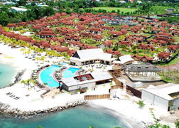 Harlequin, the company that owns Buccament Bay Resort, has applied in the United Kingdom for its sales arm to go into administration.
