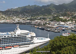 Cruise Ship In Kingstown Harbour St Vincent St Vincent And The Grenadines Windward Islands West Indies Caribbean 4265660