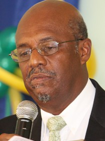 Opposition Leader Arnhim Eustace (File photo).