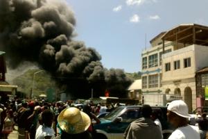 Eustace Auto Supplies Fire