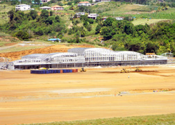 A View Of The Terminal Building Under Construction At The Argyle International Airport (Photo: Facebook).