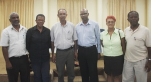 Committee members -- from left: Junior Bacchus, Sylvia Sutherland, Cools Vanloo, Jerry George, Jeanie Ollivierre, and Hugh Stewart.  (Photo: I-Witness News)