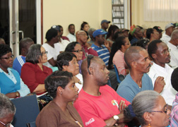 Shareholders of the Building  & Loan Association at the meeting in Kingstown on Thursday, Feb. 21, 2012. (Photo: IWN)