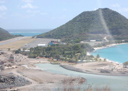 "The $300 million development project in Canouan, including a marina for 110 boats, currently employs 1,050 Vincentians. (Photo: Duggie ""Nose"" Joseph, via Facebook)"