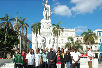 Participants at the SVG National Heroes Day event in Cuba.