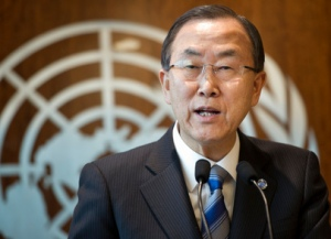 U.N. Secretary-General, Ban Ki-moon. (UN Photo/Mark Garten)