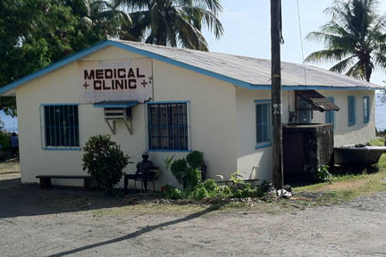 The clinic at Buccament Bay.