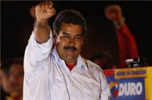 Nicolas Maduro, a protege of former Venezuelan President Hugo Chavez, narrowly won election on Sunday. (Reuters)