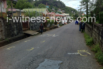 The scene of the accident in Layou.