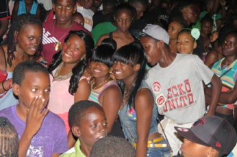 A section of the crowd at the launch of North Leeward Carnival.