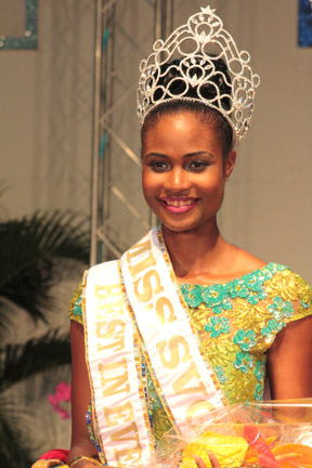 Miss SVG 2013 -- Shara George -- Miss Mustique Company